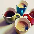 Kahvi juhla mokka ja presidentti sekä lipton ja nordqvist tee toimistolle, cupsolo paulig ja maito