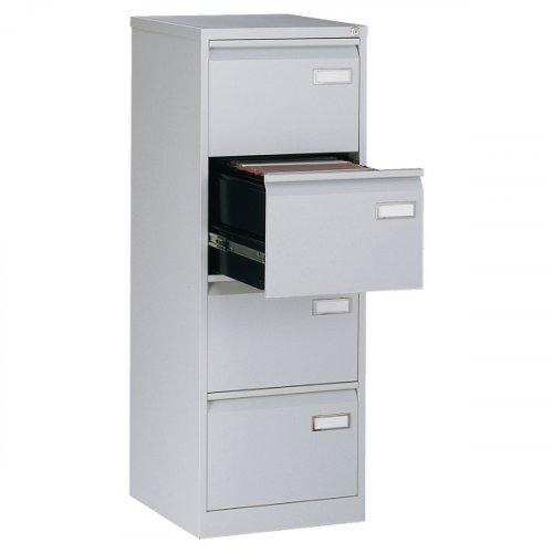 3334628 Riippukansiokaappi harmaa Bisley 4 laatikolla on yrityskäyttöön tarkoitettu laadukas laatikosto edulliseen hintaan. Riippukansiolaatikoston laatikot ovat laakeroitu ja ne kestävä 32 kilon painon. Laatikoston takuu on 2 vuotta.